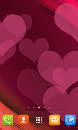 Pink Heart Live Wallpaper