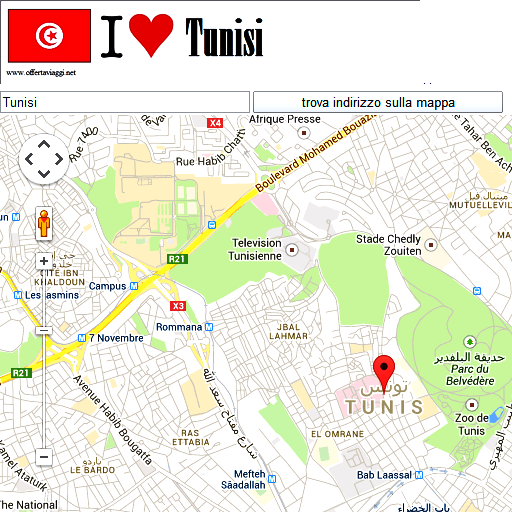 Tunis maps