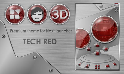 Next launcher theme TechRed