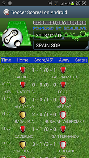 SoccerScores OnAndroid