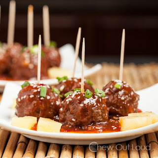 Hawaiian Luau Meatballs (Crock-pot).