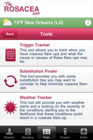 The Rosacea App - screenshot