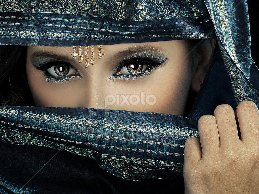 Hindinesia Girl by Dhani Photomorphose - People Portraits of Women ( color, colors, landscape, portrait, object, filter forge )