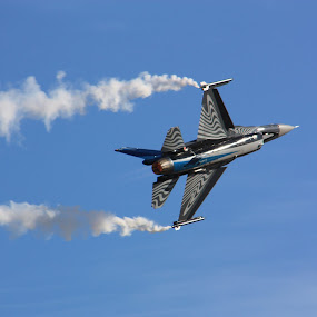 by Silvana van Engelen - Transportation Airplanes ( sky, stripes, jet, fighter, airshow )
