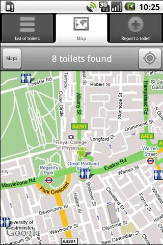 Toilet/Bathroom Finder - screenshot