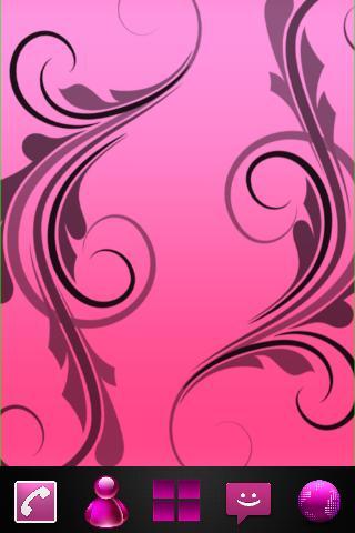 Theme Pink clean Go laucher