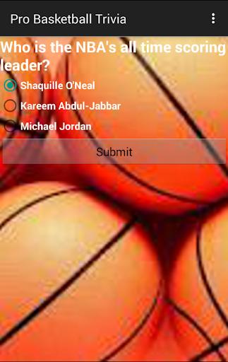 Pro Basketball Trivia