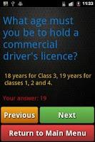 Screenshot of Truck Driving Test Class 3 BC