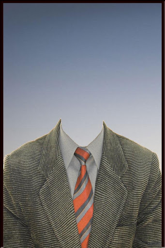 American Man Suit Photo Camera