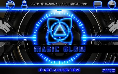 Next Launcher Theme glow magic