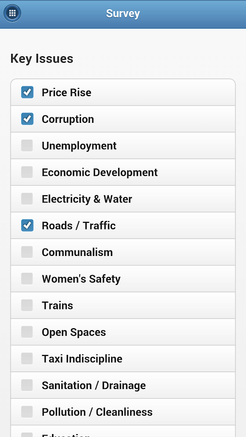 AAP Mumbai South Manifesto- screenshot