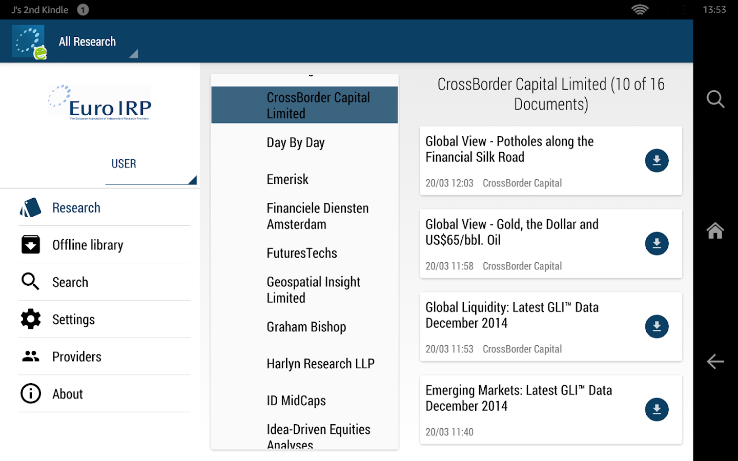 Euro IRP - Investment Research- screenshot