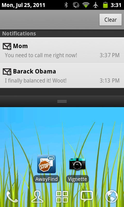AwayFind  (Email Alerts) - screenshot