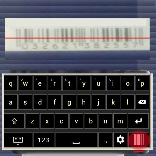 Keyboard + BARCODE SCANNER