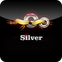 Silver GoLauncher EX theme logo