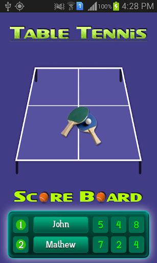 TableTennis ScoreBoard