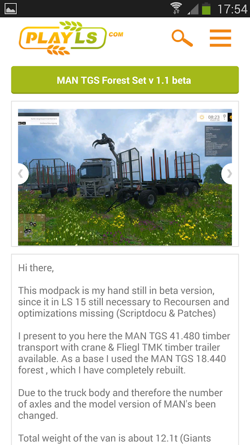 Farming simulator 15 mods- screenshot