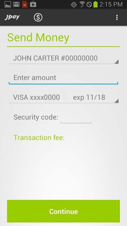 JPay - screenshot