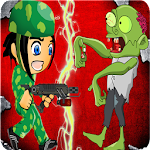 Army Infantryman and Zombie