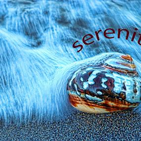 Serenity by Berrin Aydın - Typography Words ( sea,  )