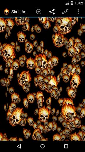 骷髅火风暴3D壁纸