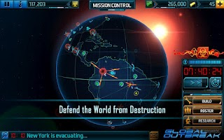 Screenshot of Global Outbreak