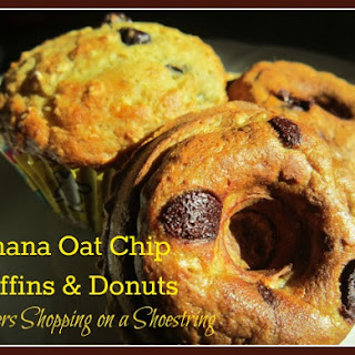 Banana Oat Chip Muffins and Donuts