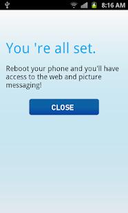 Net10 Data Settings - screenshot thumbnail
