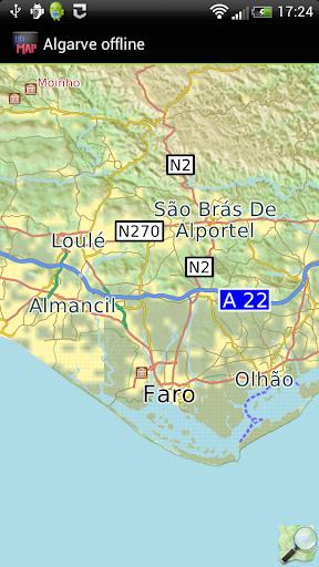Algarve offline map