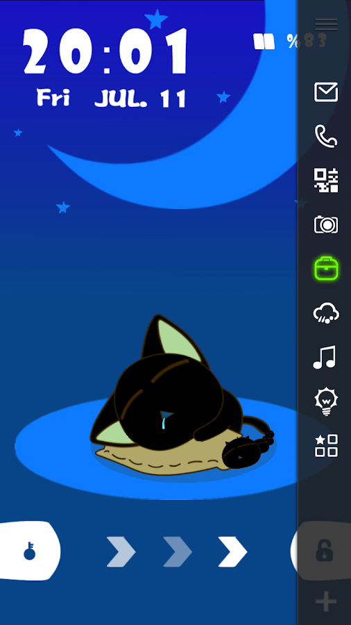 Cute Cat Live Locker Theme - screenshot