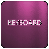 Pink Glass Keyboard Skin