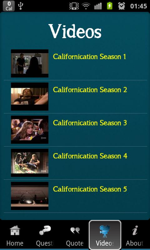 Californication Trivia - screenshot
