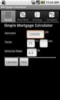Screenshot of Mortgage Calculator