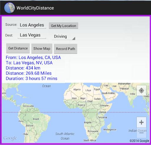 World City Distance