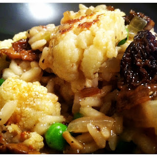 Mushroom and Cauliflower Risotto