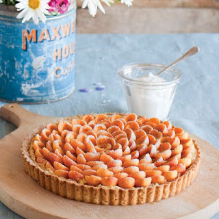 Almond-Apricot Tart with Whipped Cream