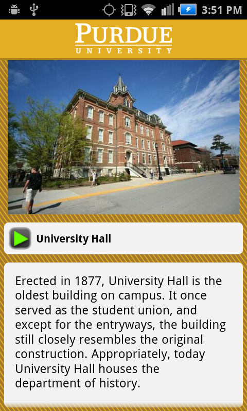 Purdue University Campus Tour - screenshot