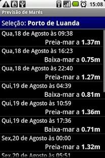 Previsão de Marés - screenshot thumbnail