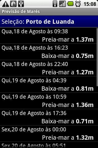 Previsão de Marés - screenshot
