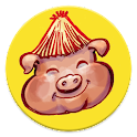 """The three little pigs"" tale icon"