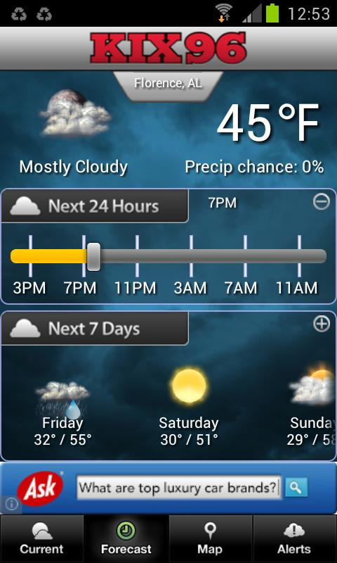 KIX96 Weather- screenshot
