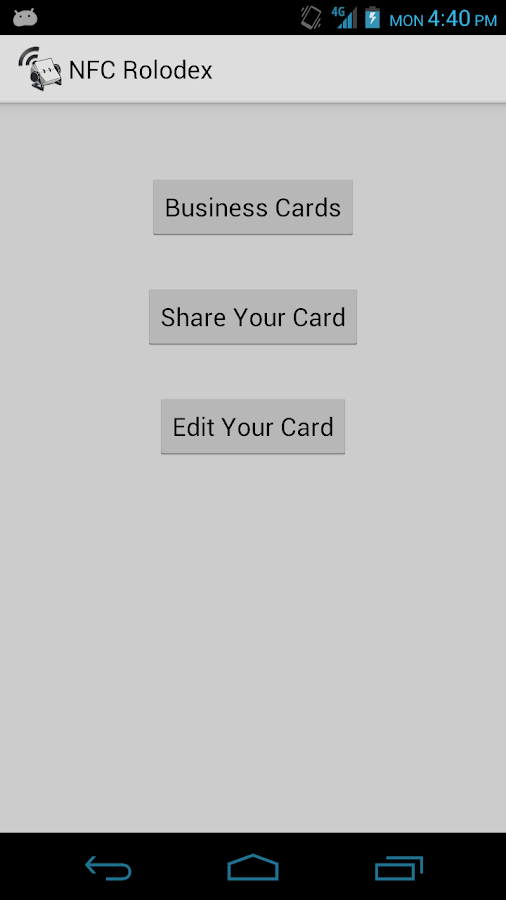 NFC Rolodex - screenshot