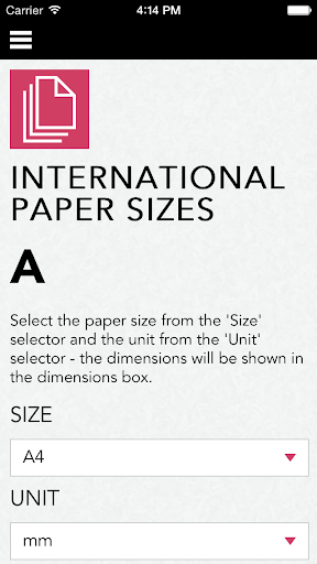 International paper size guide
