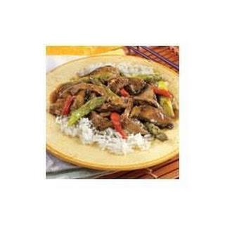 Beef, Asparagus and Portobello Stir-Fry.