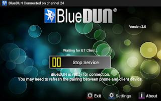 Screenshot of BlueDUN