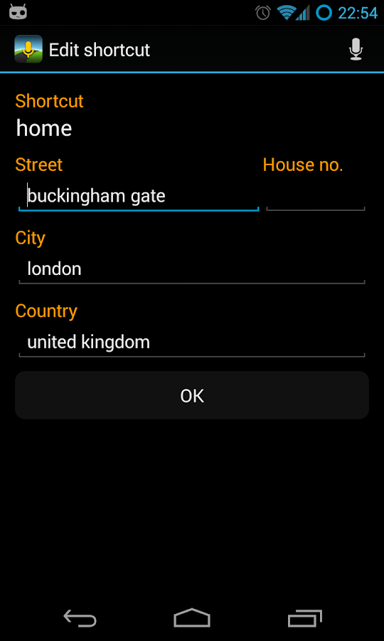 Voice Commands for Navigation - screenshot