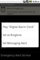 Screenshot of Alarm Ringtones