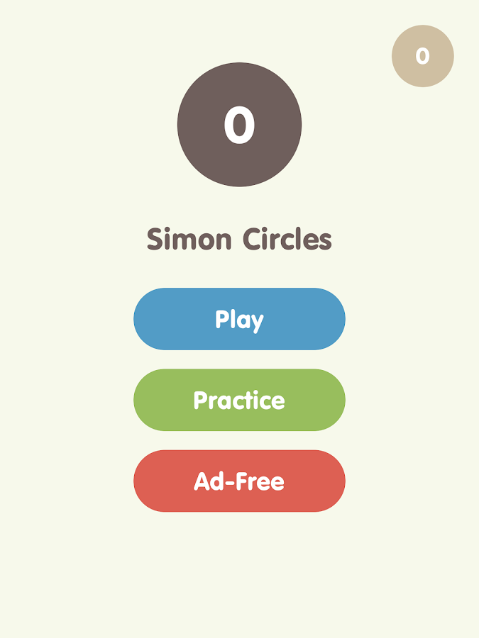 Simon Circles- screenshot