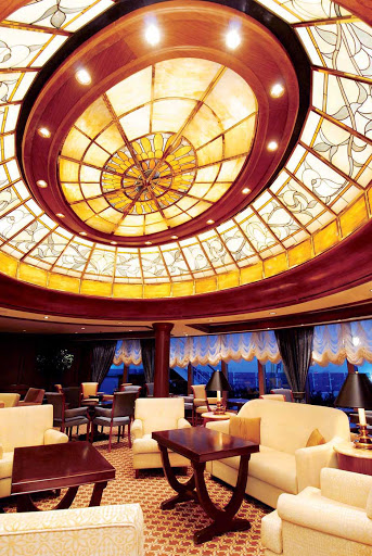 Cunard-Queen-Victoria-The-Grills-Lounge - Inside Grills Lounge aboard Queen Victoria.