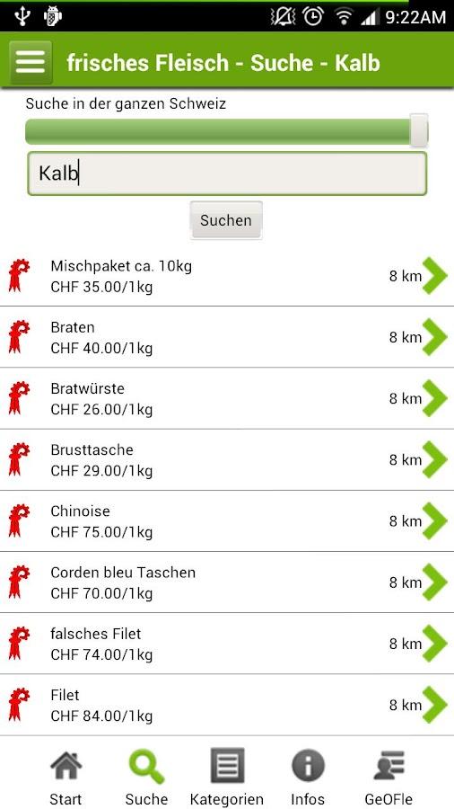 frisches Fleisch vom Bauernhof- screenshot